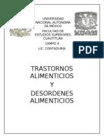 TRASTORNOS DE ALIMENTACION