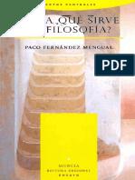 23.- Para Qué Sirve la Filosofía - Paco Fernandez Mengual.pdf