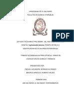 ESTUDIO FITOQUIMICO PRELIMINAR DEL FRUTO DE LA ESPECIE