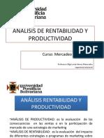 ANALISIS DE RENTABILIDAD Y PRODUCTIVIDAD