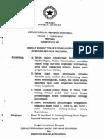 UU Nomor 9 Tahun 2010 Tentang Keprotokolan