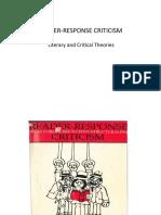 READER- RESPONSE CRITICISM