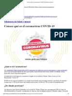 Conoce qué es el coronavirus COVID-19