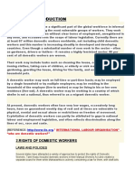 RIGHTS OF DOMESTIC WORKERS