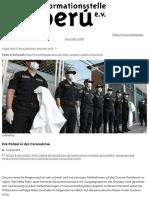 Die Polizei in der Coronakrise | Informationsstelle Peru e.V.