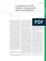 Chirurgie endonasale et nouvelle instrumentation  chirurgie assistée par ordinateur et microdébri