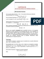 CAPITULO III - Solucion de ecuaciones de primer orden