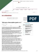 'Acho que a chuva ajuda a gente a se...' - 07_02_2013 - Pasquale - Ex-Colunistas - Folha de S.Paulo