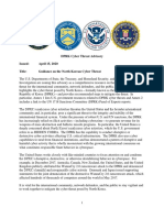 DPRK Cyber Threat Advisory
