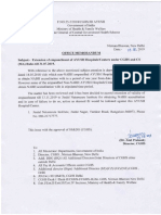 Extension of empanelment of Ayush Hospitals-Centers under CGHS CS (MA) Rules (August 2019)-I