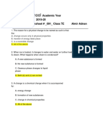 Simple Chemical Reactions -- Worksheet 1 pdf completed