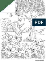 Planse colorat adulti- motive vegetale