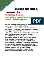 Analisi e  gestione della Psiche  umana attraverso l'utilizzo terapeutico  delle manifestazioni artistiche