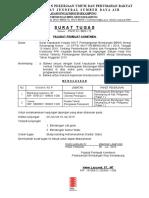 Surat Tugas Direksi Bambang