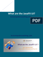 What Are the JavaFX UI (1)