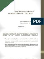 SISTEMA INTEGRADO DE GESTION ADMINISTRATIVA -  SIGA MEF