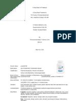 A Drug Study on Prednisone