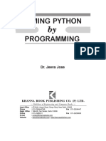 TAMING PYTHON by PROGRAMMING