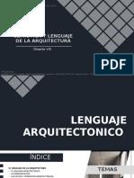SEMIOTICA Y LENGUAJE DE LA ARQUITECTURA