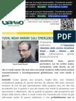 Yuval Noah Harari sull'emergenza Covid-19