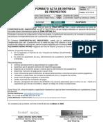 F-SSC-002 Formato acta de entrega de proyectos v1.3 ZonaPAGOS CooperativaMagisterio