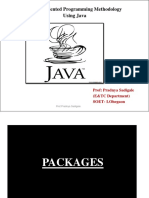 Packages in java2018