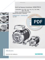 Siemens - Motori in bassa tensione SIMOTICS 1LE, 1PC, 1LA, 1LG, 1LL, 1LP, 1MA, 1MJ, 1PP, 1PQ