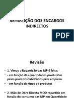 BAI  REPARTIÇÃO DOS ENCARGOS INDIRECTOS