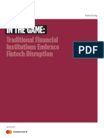 In the Game_ Traditional Financial Institutions Embrace Fintech Disruption - 2019
