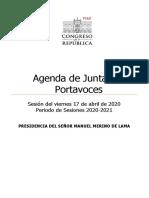 Agenda Junta de Portavoces