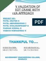 design & validation of eot crane