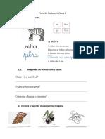 Ficha de Português Zebra 1