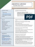 lindsay samantha resume