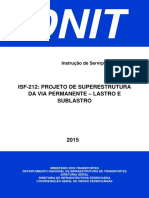 ISF-212 - Projeto de Superestrutura da Via Permanente - Lastro e Sublastro