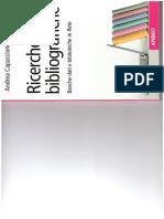 Capaccioni - Ricerche bibliografiche