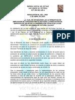 RESOLUCION 025 -2020 ALTERNATIVAS DE AMPLIACIÓN Y AISLAMIENTO
