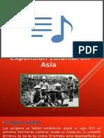 La expansión colonial en Asia