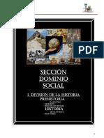 Division de la historia y prehistoria