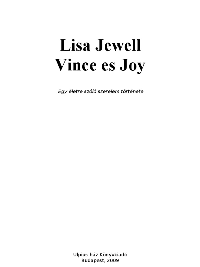 Lisa Jewell  Vince és Joy f20e6ac880