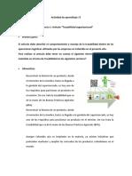 Evidencia 1  Artículo Trazabilidad organizacional