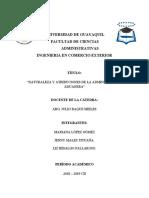 Grupo 3 -Naturaleza y atribuciones de la administraci+Ýn aduanera-