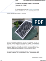 Cómo hacer una instalación solar casera por 100€ _ Nergiza