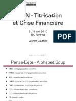 Plan - Titrisation et Crise Financiere