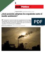 Copia de ¿Qué posición adoptan los españoles ante el medio ambiente_