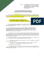 Acta Recepción Unica GLOSA 6