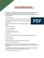 Les Membranes