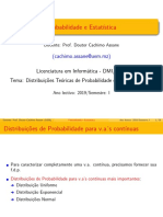 Distribuições Teóricas Contínuas