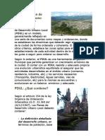 Qué es el Plan de Desarrollo Urbano Local rubio