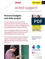 In Control Factsheet 35 Personal Budgets and Older People