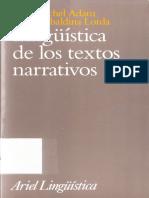 ADAM Jean Michel y LORDA Clara Ubaldina - Linguistica de los textos narrativos